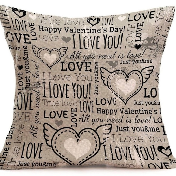 Other - Pillow Cover- New - I Love You Heart